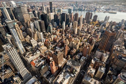 Foto op Aluminium New York Panorama of old New York skyscrapers