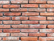 Old red brick wall, seamless background texture