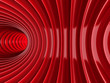 Red Tunnel Abstract Architecture Background
