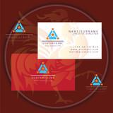 triangle tech business card logo