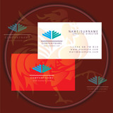 wings construction business card logo