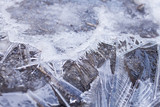 ice crystals abstract