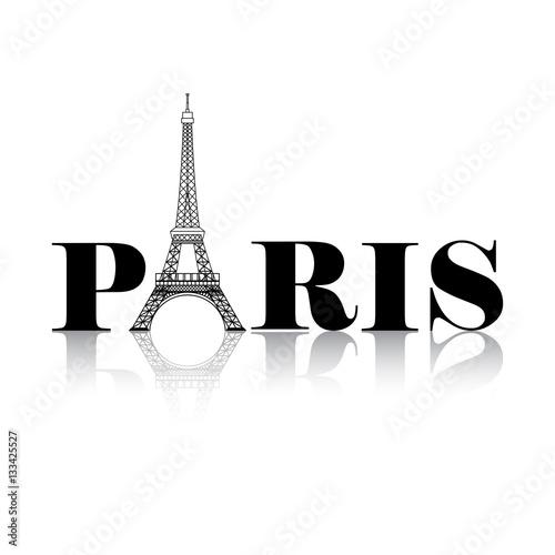 Paris Eiffel Tower Silhouette