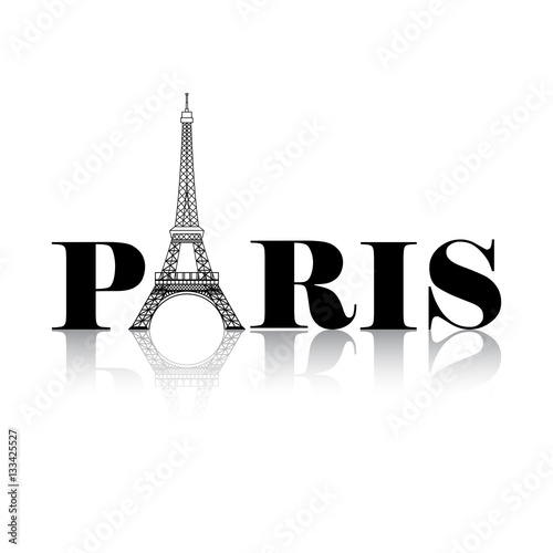 Poster Paris Eiffel Tower Silhouette