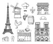 The sketch about France and Paris
