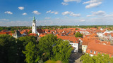 Aerial view of Celle skyline from city park, Germany - 133437752