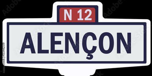 Poster ALENÇON - Ancien panneau entrée d'agglomération