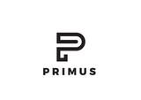 Letter P Logo Luxury design Linear. Type Character Logotype - 133443537