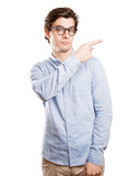 Confident young man pointing - 133443983