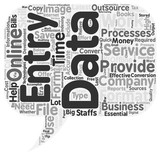 data entry services text background wordcloud concept
