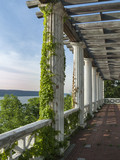 Classical Pergola Overlooking the Hudson River