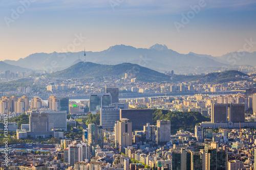Poster Seoul City , South Korea