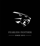 Black Panther Head. Black Panther Head combine with text. Black Panther. Fearless panther. label. Panther Mascot Head Vector Graphic. Dark Predator. tiger head, roaring fang face