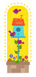 Birdhouse Clip-art - Cute birdhouse with birds and flowers. Eps10