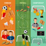Soccer banner, football team, signs and symbols