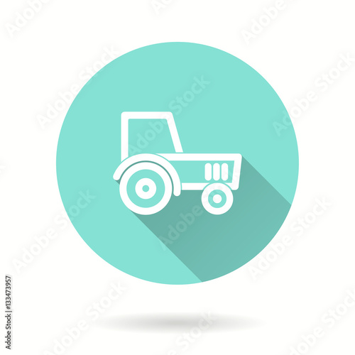 Poster Tractor - vector icon.