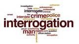 Interrogation animated word cloud, text design animation.