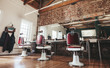 Постер, плакат: Retro styled barbershop