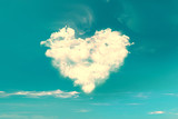 Clouds in the shape of a heart, vintage process - 133490513