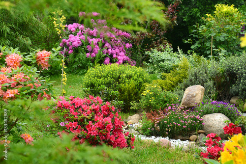 Fotobehang Azalea Garten 636