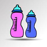 nipple baby vector pacifier illustration kid symbol