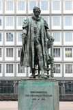 Carl Friedrich Petersen statue in Hamburg.