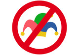 Schild Karneval verboten