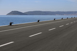 New concrete and blacktop pier for acceptance of passenger cruisers in port Split in Croatia