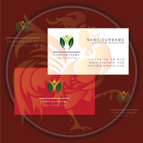 healthy people symbol business card logo