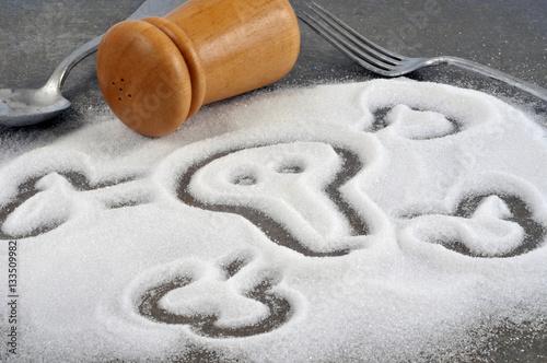 Poster Tête de mort dessinée dans du sel fin