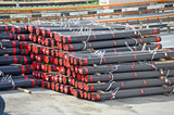 Stacked PVC and steel pipe - 133513314