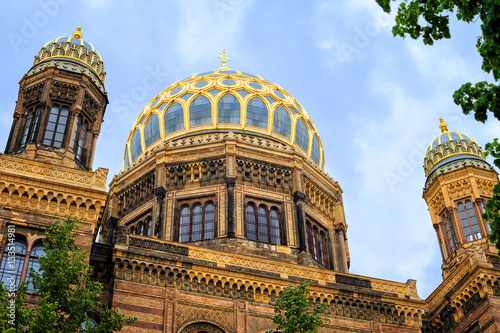 Poster Golden Domes of the New Synagogue, Berlin, Germany