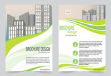 Brochure template flyer design blue  template