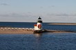 Nantucket Brant Point Lighthouse with Christmas wreath and bow