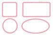 Candy cane border frames set. Vector illustration.