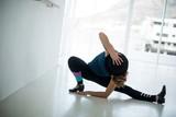 Dancer practicing dance