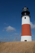 Sankaty Head Light lighthouse on Nantucket Island - through the nearby grasses
