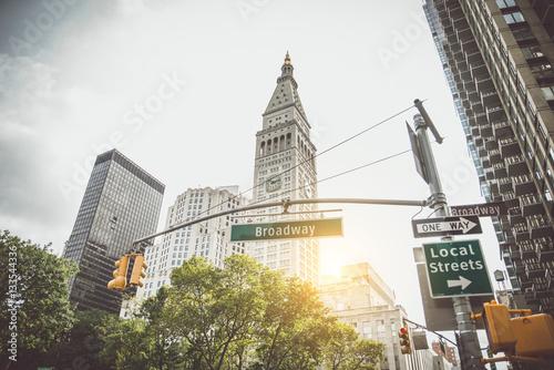 Foto Murales Broadway sign, New York