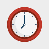 time clock isolated icon vector illustration design - 133558136