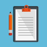 pencil and paper isolated icon vector illustration design