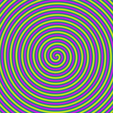 Candy Swirl Spiral / A digital fractal image with a candy stripe spiral design in yellow, blue, green and pink. - 133567719