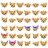 Chihuahua Dog Emoji Emoticon Expression