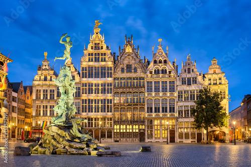 Fotobehang Antwerpen Grote Markt in Antwerp, Belgium