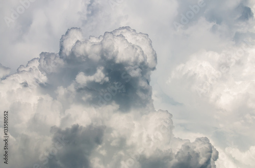 colorful dramatic sky with cloud at sunset - 133580552