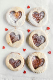 Homemade love cookies