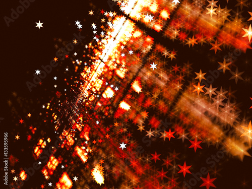Blurred backdrop with stars - abstract digitally generated image