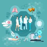Medicine infographics hospital medicine staff health service