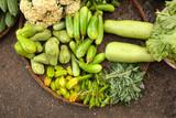 Fresh vegetables on morning chinese market, Yangon, Myanmar (Bur
