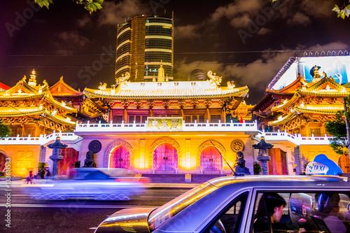 Poster tempel in shanghai