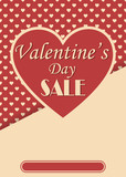 Vintage style valentines day sale poster design